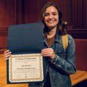 Jane Bowden , the 2019 Robert Cole Scholarship recipient